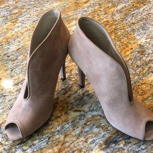 Adrianna Vittadini peep toe booties - size 7